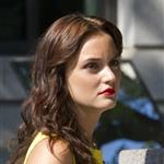 Leighton Meester on set first day of new season of Gossip Girl 89401