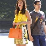 Leighton Meester on set first day of new season of Gossip Girl 89403