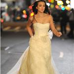 Leighton Meester in a wedding dress shoots scenes for Gossip Girl 98475