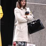 Leighton Meester Penn Badgley on the set of Gossip Girl  73114