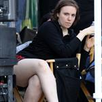 Lena Dunham on the set of Girls in Manhattan 117365