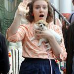 Lena Dunham on the set of Girls in Manhattan 115849