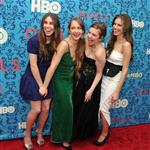 Zosia Mamet, Jemima Kirke, Lena Dunham, and Allison Williams attend the HBO with The Cinema Society host the New York premiere of HBO's Girls 111498