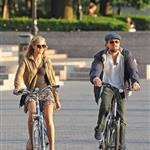 Leonardo DiCaprio and Erin Heatherton bike riding in New York 117647