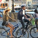 Leonardo DiCaprio and Erin Heatherton bike riding in New York 117658