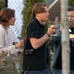 Leonardo DiCaprio in Vancouver with Lukas Haas and Tobey Maguire 67721