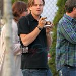 Leonardo DiCaprio in Vancouver with Lukas Haas and Tobey Maguire 67724