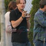 Leonardo DiCaprio in Vancouver with Lukas Haas and Tobey Maguire 67725