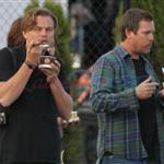 Leonardo DiCaprio in Vancouver with Lukas Haas and Tobey Maguire 67728