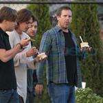 Leonardo DiCaprio in Vancouver with Lukas Haas and Tobey Maguire 67735