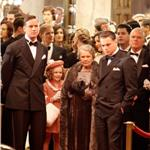 Leonardo DiCaprio shooting J Edgar Hoover with Judi Dench and Armie Hammer  78734
