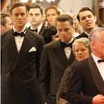 Leonardo DiCaprio shooting J Edgar Hoover with Judi Dench and Armie Hammer  78736