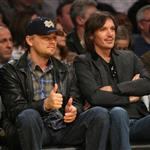 Leonardo DiCaprio and Lukas Haas at a LA Lakers game 108376