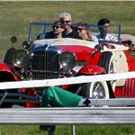 Leonardo DiCaprio and Tobey Maguire rehearse with vintage car on Great Gatsby set in Australia 92709