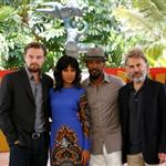 Leonardo DiCaprio, Kerry Washington, Jamie Foxx and Christoph Waltz attend the Django Unchained photo call in Cancun, Mexico 111386