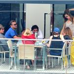 Leonardo DiCaprio hangs out on a boat with friends in Italy  86010