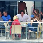 Leonardo DiCaprio hangs out on a boat with friends in Italy  86012