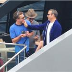 Leonardo DiCaprio hangs out on a boat with friends in Italy  86014