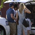 Leonardo DiCaprio and his girlfriend Erin Heatherton grabbed their luggage from the back of a car in Mexico  103866