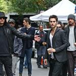 Gerard Butler visits Jared Leto on Hugo Boss shoot in New York  70898