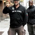 Russell Crowe arriving at Letterman 60386