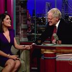 Salma Hayek talks about Snake Incident on Letterman June 2010  63787