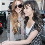 Lilo and Ali Lohan at the hair salon last week 36638