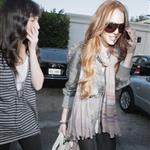 Lilo and Ali Lohan at the hair salon last week 36639