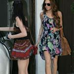 Lindsay on her way to Ellen with Ali yesterday 37402