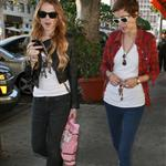 Lindsay Lohan and Samantha Ronson shopping at Fred Segal  25096