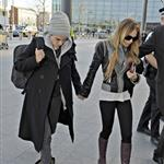 Lindsay Lohan and Samantha Ronson holding hands at Heathrow after fighting over Calum Best 27800