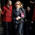 Lindsay Lohan in New York for Fashion Week with Samantha Ronson 32774