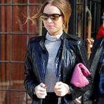Lindsay Lohan in New York for Fashion Week with Samantha Ronson 32776