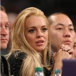 Lindsay Lohan courtside at LA Lakers 76441