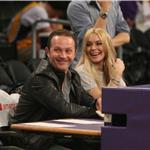 Lindsay Lohan courtside at LA Lakers 76446