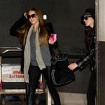 Lindsay Lohan arrives back at LAX after spending a day and a half in Paris 39094