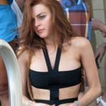 Lindsay Lohan at MGM Grand looking like a crack whore while celebrating her birthday 41955