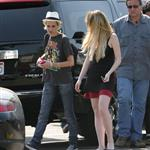 Samantha Ronson blows Lindsay Lohan a kiss on the set of Labour Pains 22594