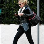Lindsay Lohan leaving Jason Segel's after a sleepover 51756