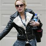 Lindsay Lohan leaving Jason Segel's after a sleepover 51758