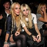 Lindsay Lohan and Taylor Momsen hang out at Fashion Week  46998