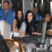 Lindsay and Ali Lohan at LAX 59968