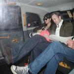 Lily Allen leaving 34 restaurant in Mayfair London with her husband Sam Cooper 110054