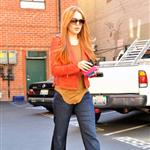 Lindsay Lohan debuts her newly dyed red hair in Beverly Hills, CA 108548