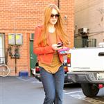 Lindsay Lohan debuts her newly dyed red hair in Beverly Hills, CA 108550