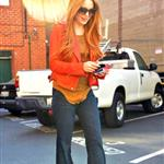 Lindsay Lohan debuts her newly dyed red hair in Beverly Hills, CA 108556