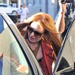 Lindsay Lohan debuts her newly dyed red hair in Beverly Hills, CA 108558