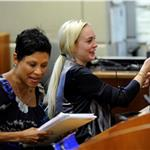 Lindsay Lohan appears in court for a progress hearing 90482