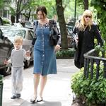 Liv Tyler in New York with mother and son Milo 61709