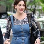 Liv Tyler in New York with mother and son Milo 61713